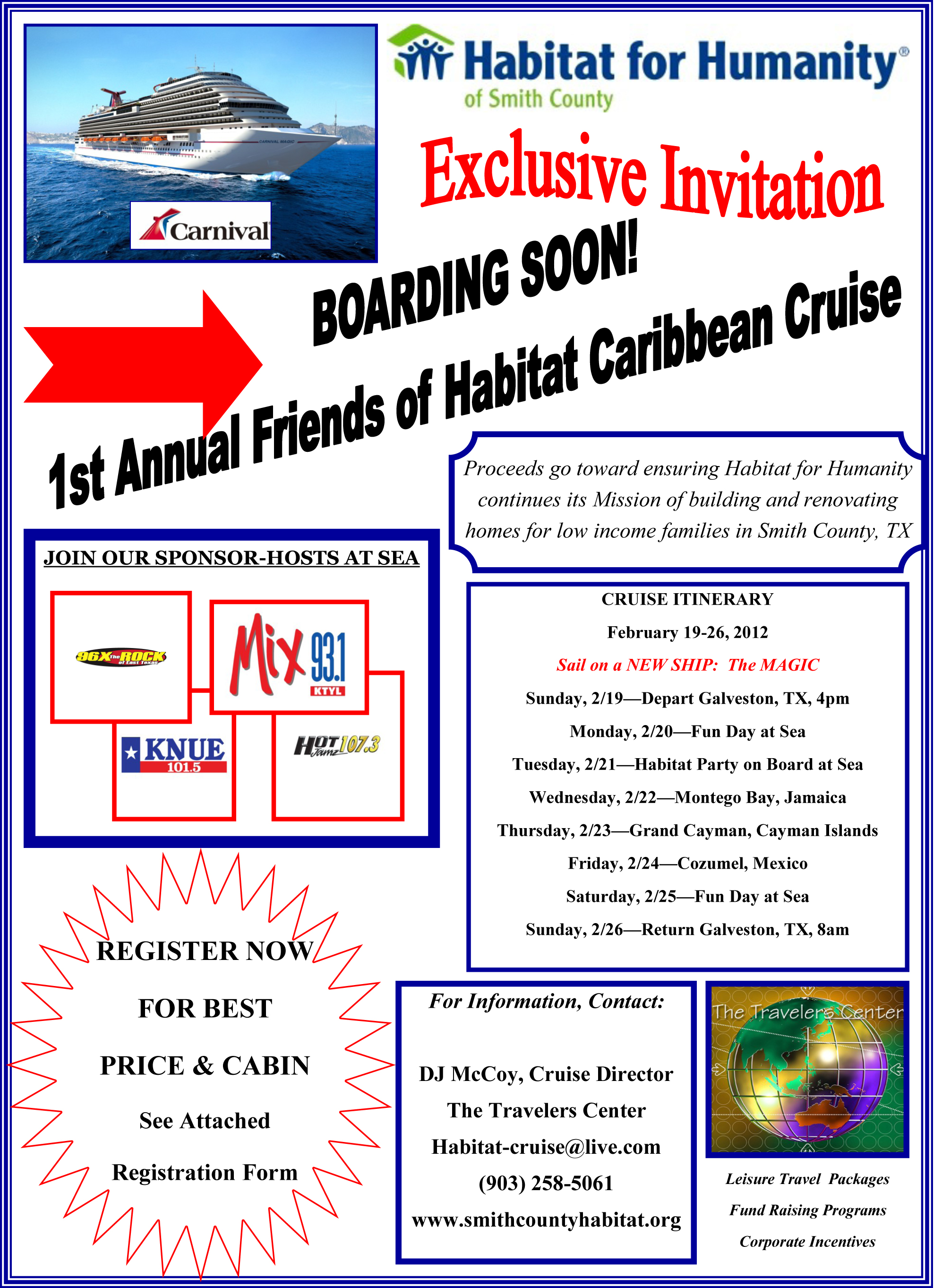 good cruise itinerary template 1st friends of habitat caribbean cruise